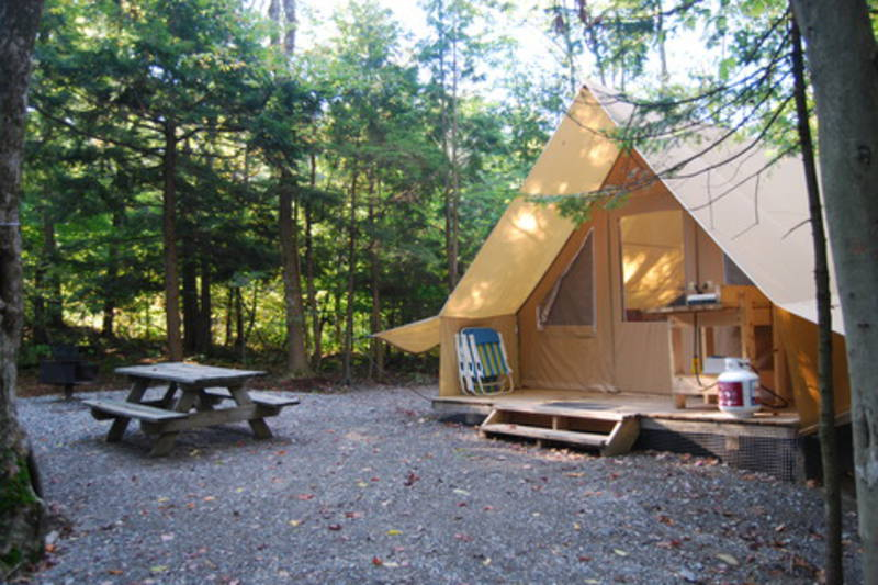 ... Huttopia ... & Camping Parc National Du Mont-Orford Lac Stukely | Campgrounds ...