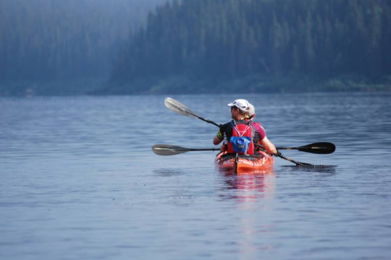 Kayak sur le lac Walker