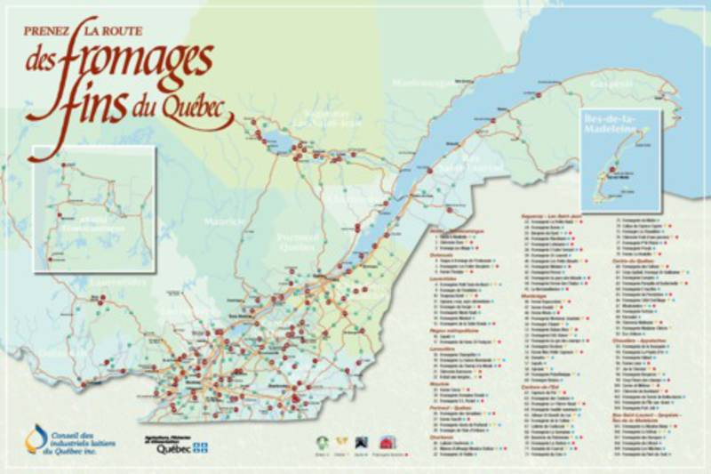 Carte fromageries