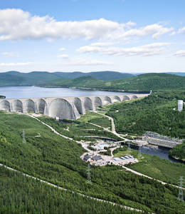 Daniel-Johnson Dam and Manic-5 AC Generating Station (Hydro-Québec)