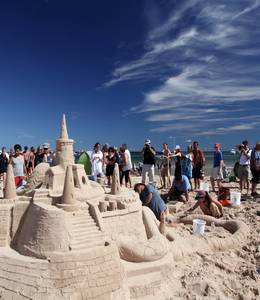Magdalen Islands sandcastle contest