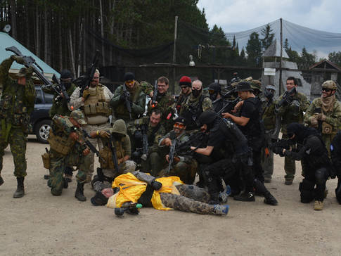 Groupe paintball-d'airsoft