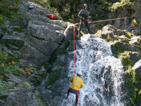 Canyoning dans Charlevoix