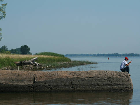 En bordure du fleuve Saint-Laurent
