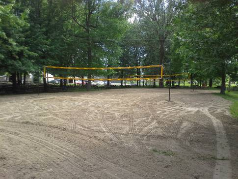 Terrain de volleyball