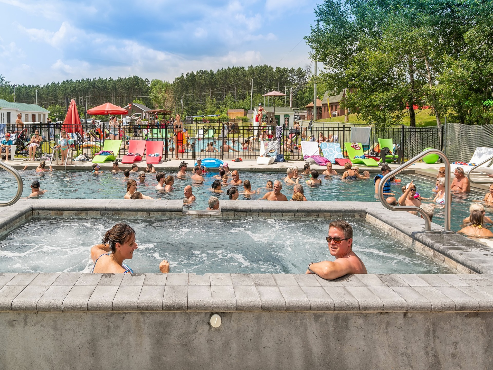 Piscines Es & Spas camping magog-orford   campgrounds orford   lodging