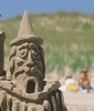 Sand castle competition on the Islands